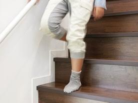 滑り止めクッション付き階段